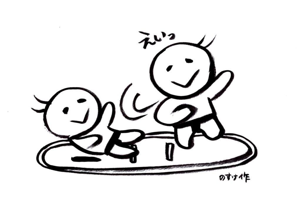 相撲を取る人イラスト