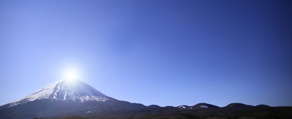 ダイヤモンド富士の写真