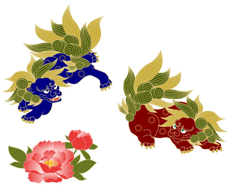唐獅子のイラスト