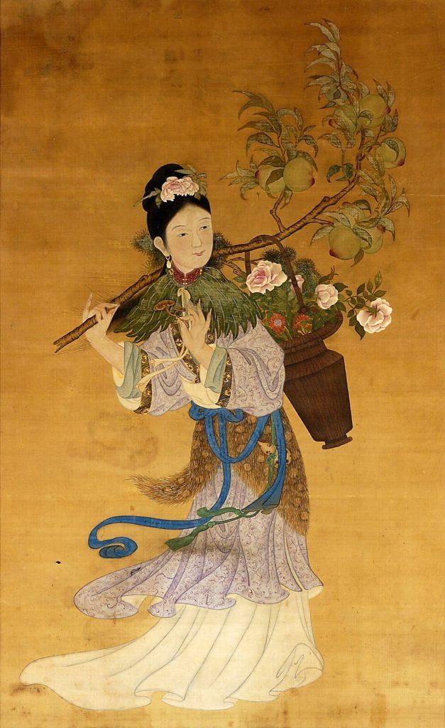 神仙伝に登場する麻姑の絵