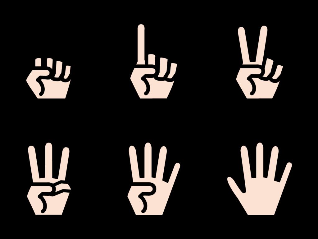 指の数字のイラスト