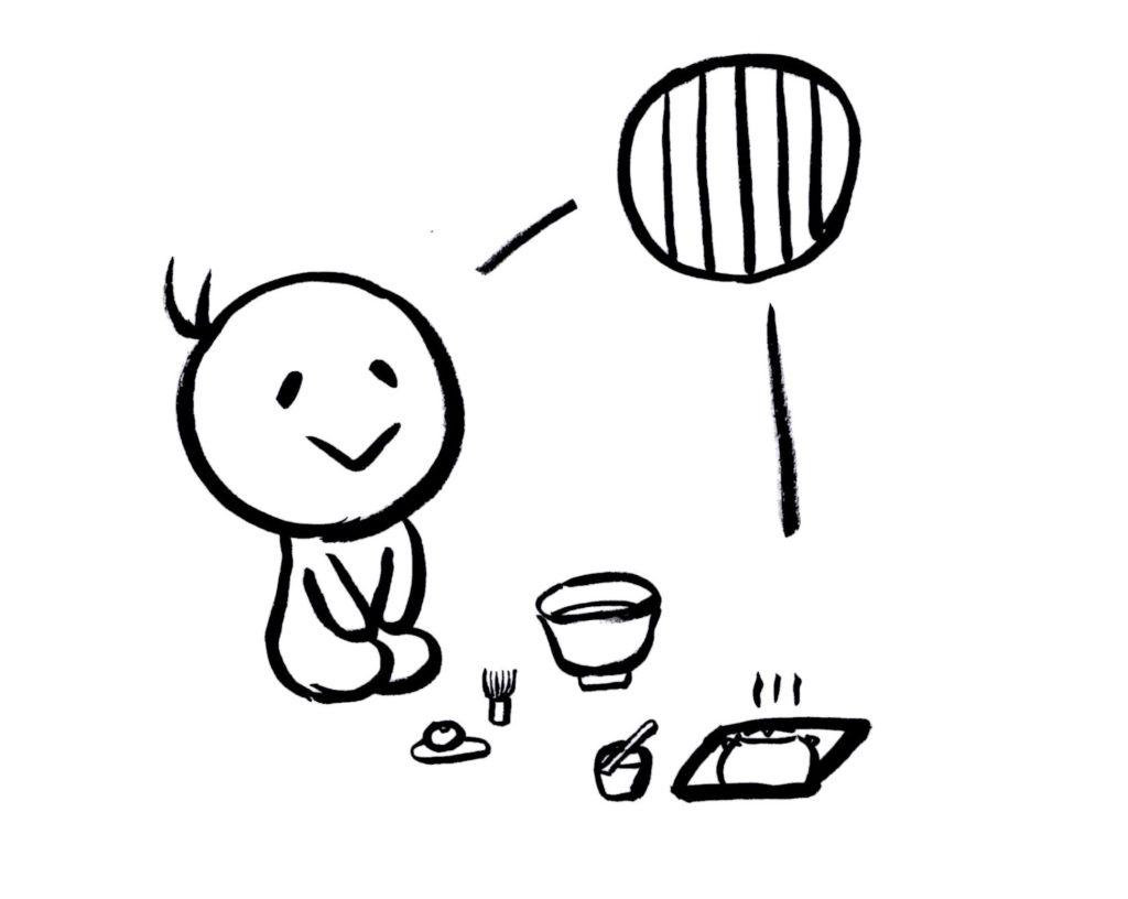お茶を楽しむ人のイラスト