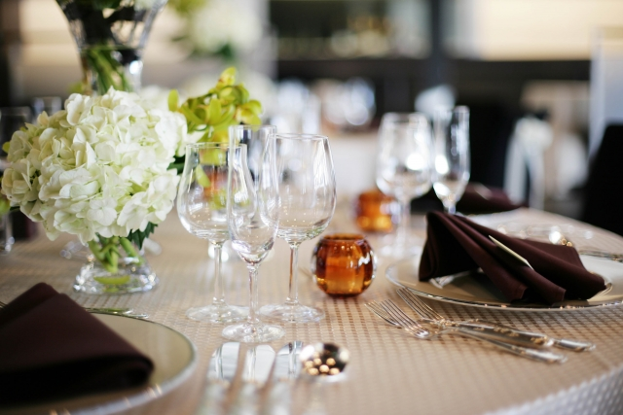 結婚式の会場の写真