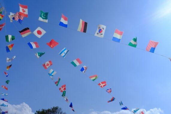運動会の旗の写真