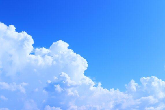 入道雲の写真