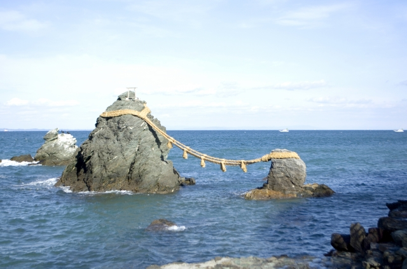 二見浦の夫婦岩の写真