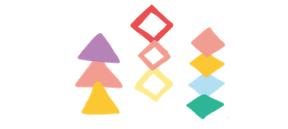 三角飾り・菱飾りのイラスト