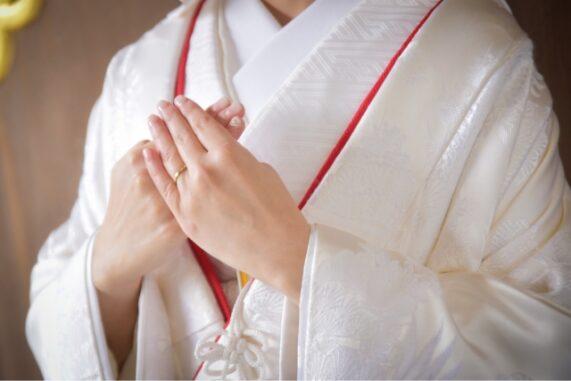 白無垢の花嫁の写真