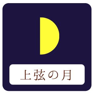上弦の月のイラスト