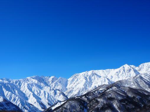 冬の北アルプスの写真