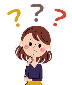 疑問の表情を浮かべる人のイラスト